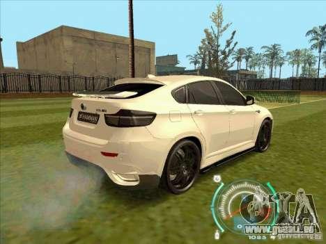 BMW X6 M Hamann Design pour GTA San Andreas laissé vue