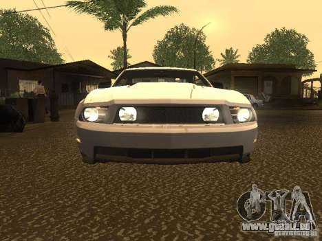 Ford Mustang 2011 GT für GTA San Andreas obere Ansicht