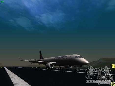 Embraer ERJ 190 Lufthansa Regional pour GTA San Andreas sur la vue arrière gauche
