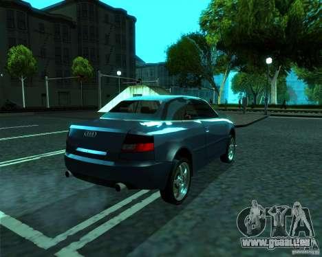Audi A4 Cabrio für GTA San Andreas zurück linke Ansicht