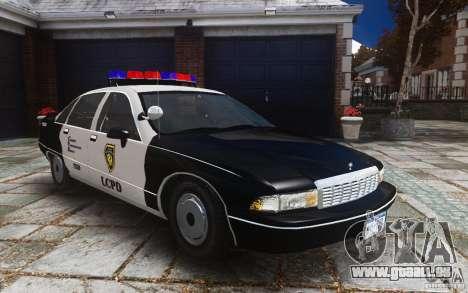 Chevrolet Caprice 1991 Police pour GTA 4 est un côté
