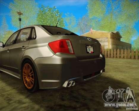 Subaru Impreza WRX STI 2011 pour GTA San Andreas vue arrière