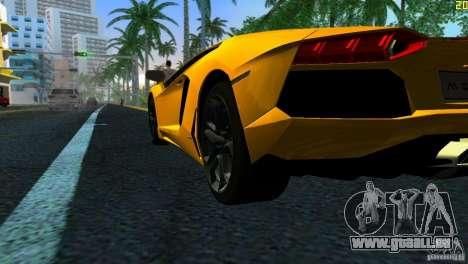 Lamborghini Aventador LP 700-4 pour une vue GTA Vice City de la droite