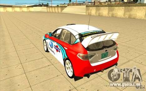 Subaru Impreza WRX STi avec unique nouveau vinyl pour GTA San Andreas roue