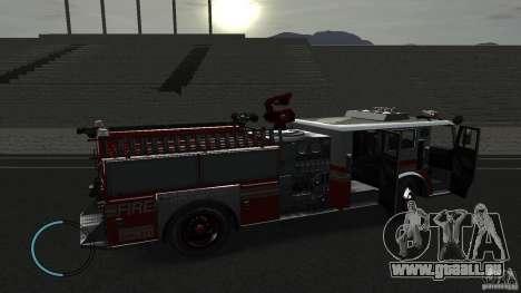 NEW Fire Truck pour GTA 4 Vue arrière