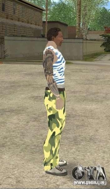 CJ VDV pour GTA San Andreas troisième écran
