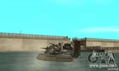 HL2 Airboat pour GTA San Andreas sur la vue arrière gauche