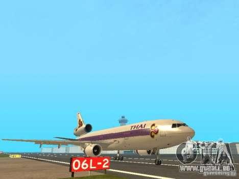 McDonell Douglas  DC 10 Thai Airways für GTA San Andreas linke Ansicht