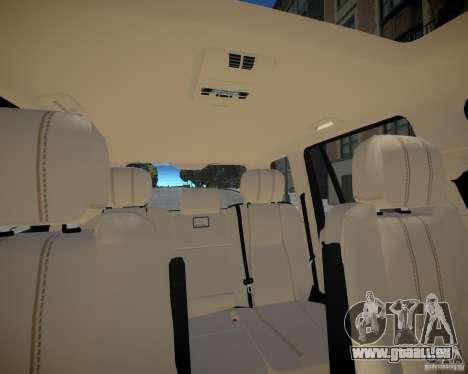 Land Rover SuperSharged pour GTA 4 vue de dessus