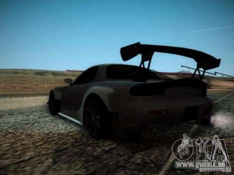Mazda RX7 Drift für GTA San Andreas zurück linke Ansicht
