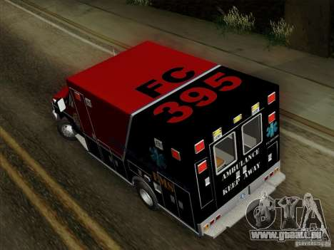 Ford E-350 AMR. Bone County Ambulance für GTA San Andreas Innenansicht