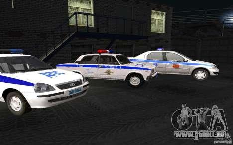 Voiture de Police VAZ 2107 DPS pour GTA San Andreas vue de droite