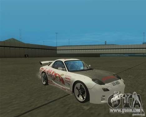 Mazda RX-7 weapon war pour GTA San Andreas vue arrière