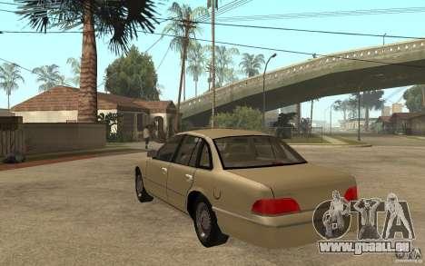 Ford Crown Victoria LX 1992 für GTA San Andreas zurück linke Ansicht