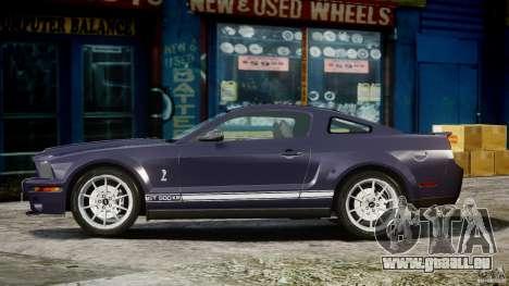 Shelby GT500KR 2008 für GTA 4 Innenansicht