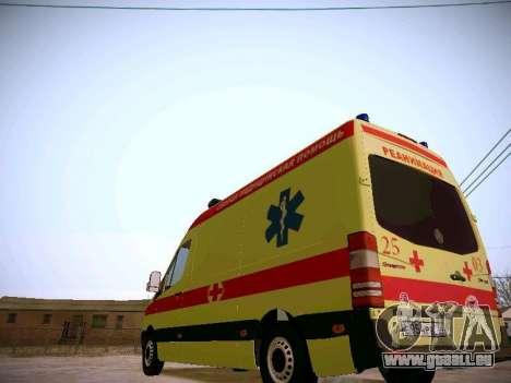 Mercedes Benz Sprinter Ambulance pour GTA San Andreas vue arrière