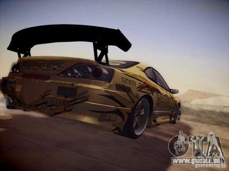 Nissan Silvia S15 Top Secret v2 für GTA San Andreas Rückansicht