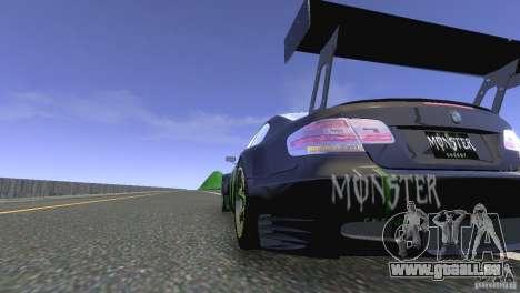 BMW M3 Monster Energy pour GTA 4 Vue arrière de la gauche