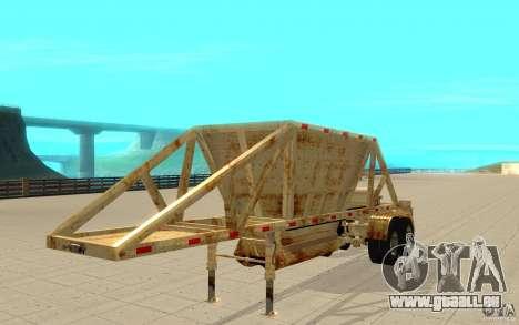 Petrotr remorque 2 pour GTA San Andreas laissé vue