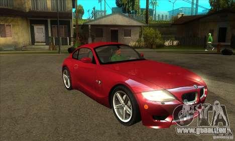 BMW Z4 - Stock pour GTA San Andreas vue arrière