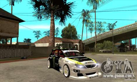 Subaru Impreza 2009 (Ken Block) für GTA San Andreas Rückansicht
