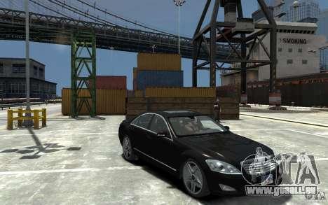 Mercedes-Benz S Class W221 für GTA 4 Rückansicht