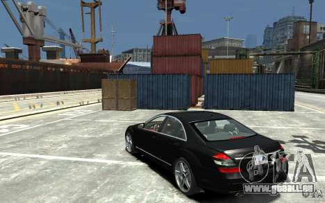 Mercedes-Benz S Class W221 für GTA 4 hinten links Ansicht