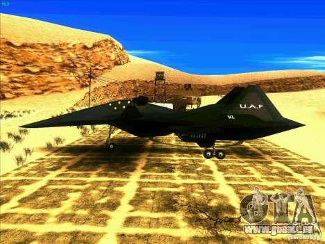 ADF-01 Falken pour GTA San Andreas laissé vue