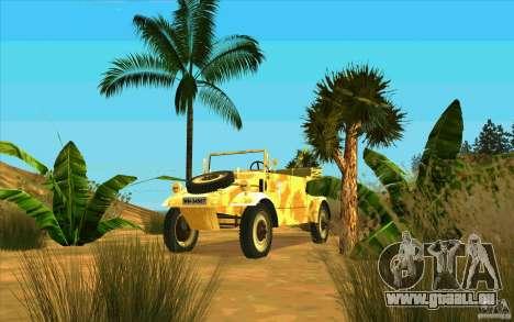 Kuebelwagen v2.0 desert für GTA San Andreas Rückansicht