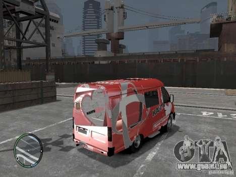 Gazelle 2705 Telkomsel Van pour GTA 4 Vue arrière de la gauche
