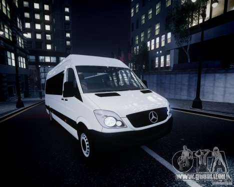 Mercedes-Benz Sprinter Long für GTA 4 Innen