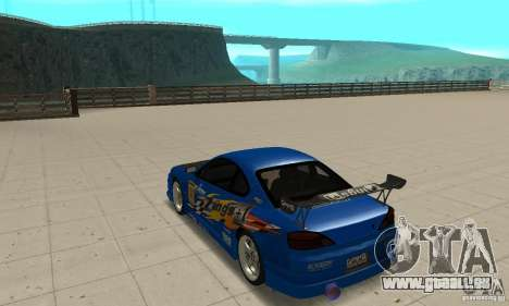 Nissan Silvia INGs +1 pour GTA San Andreas sur la vue arrière gauche