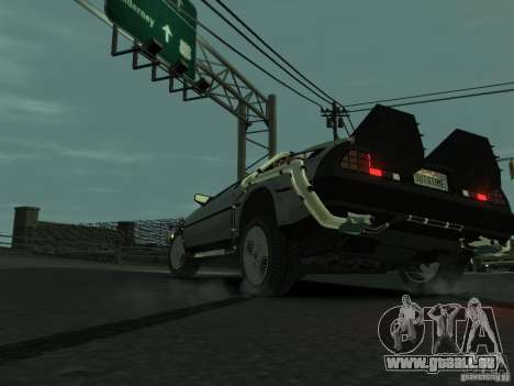 DeLorean BTTF 2 pour GTA 4 Vue arrière de la gauche