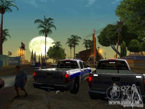 Chevrolet Silverado Rockland Police Department für GTA San Andreas rechten Ansicht