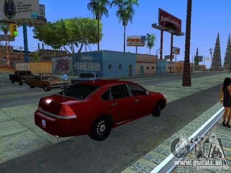 Chevrolet Impala Unmarked pour GTA San Andreas vue arrière