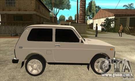 VAZ 21213 NIVA teinté pour GTA San Andreas vue arrière