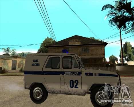 UAZ 31514 patrol für GTA San Andreas rechten Ansicht