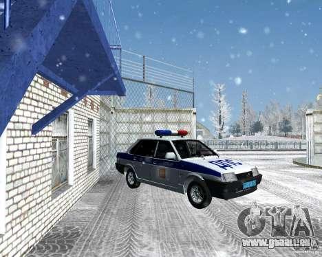 VAZ 21099 DPS pour GTA San Andreas sur la vue arrière gauche