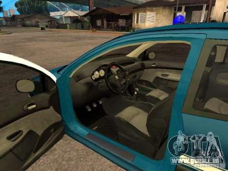 Peugeot 206 Police für GTA San Andreas zurück linke Ansicht