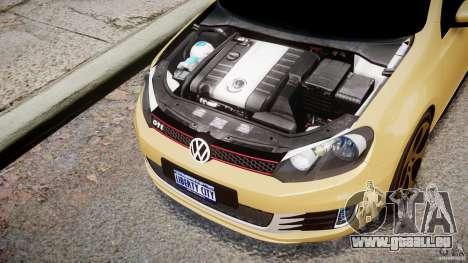 Volkswagen Golf GTI Mk6 2010 pour GTA 4 est une vue de l'intérieur