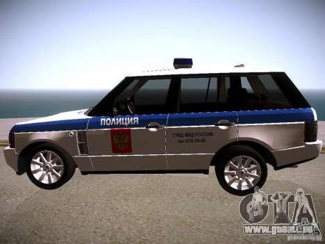 Range Rover Supercharged 2008 Police DEPARTMENT für GTA San Andreas linke Ansicht