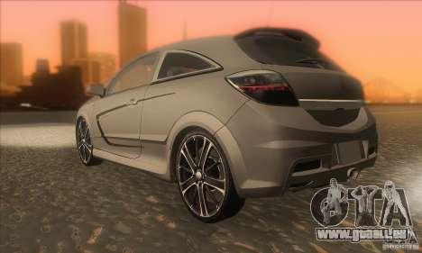 Opel Astra GTC DIM v1.0 pour GTA San Andreas sur la vue arrière gauche