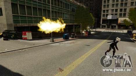 Le feu dans les mains de Geralt pour GTA 4 secondes d'écran
