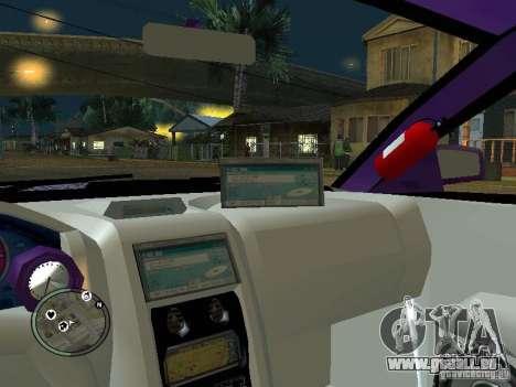 Mitsubishi Spyder 2Fast2Furious Cabriolet für GTA San Andreas obere Ansicht