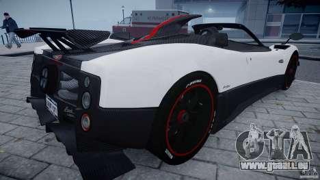 Pagani Zonda Cinque Roadster für GTA 4 rechte Ansicht