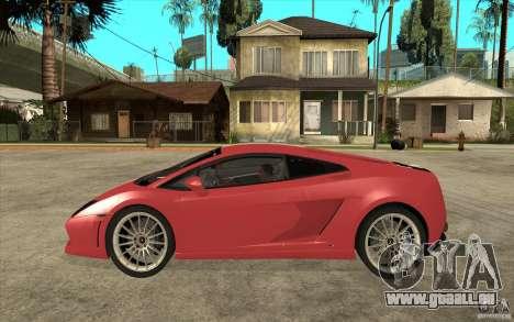 Lamborghini Gallardo LP550 Valentino Balboni für GTA San Andreas linke Ansicht