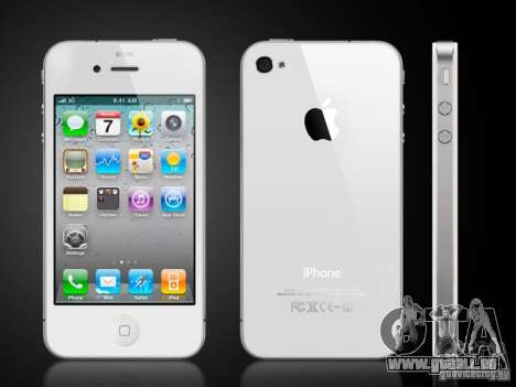 IPhone 4 g blanc pour GTA San Andreas