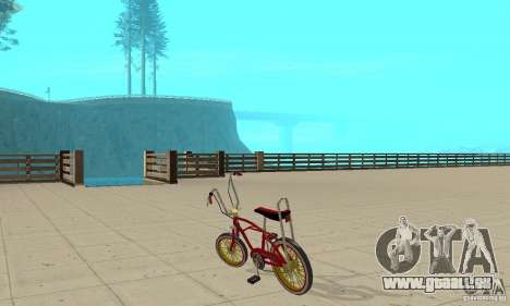 CUSTOM BIKES BMX pour GTA San Andreas sur la vue arrière gauche