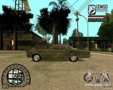 Plymouth Fury III pour GTA San Andreas laissé vue