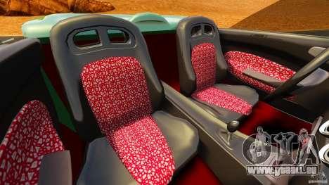 Daewoo Joyster Concept 1997 pour GTA 4 est une vue de l'intérieur